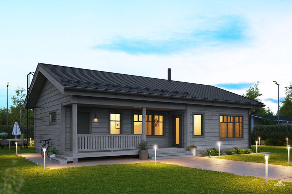 Fortuna Blockhaus mit Terrasse und Garten
